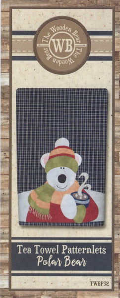 Polar Bear Patternlet Laser cut Applique/Towel Kit