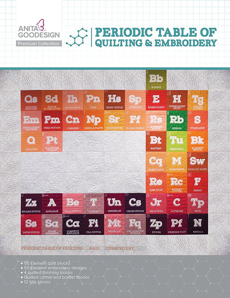 Anita Goodesign - Premium Collection - Periodic Table of Quilting & Embroidery
