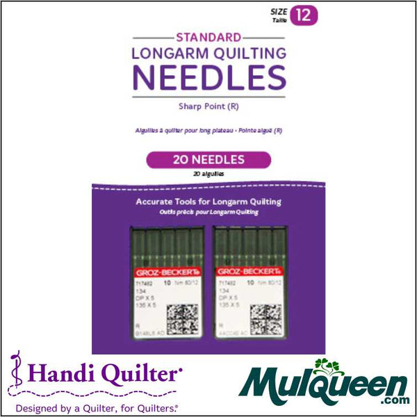 HQ Standard Longarm Needles - 2 packs of 10 ( 12/80-R, Sharp) - QM00239-2