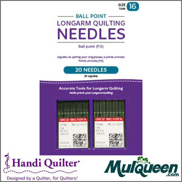 HQ  Ball Point Longarm Needles – Two Packages of 10 (16/100-FB, Ball Point) - QM00244-2