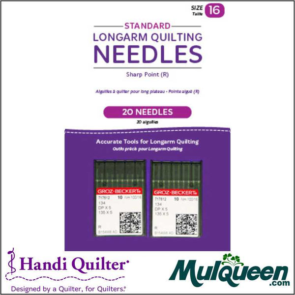 HQ Standard Longarm Needles - Two Packs of 10 (16/100-R. Sharp) - QM00246-2