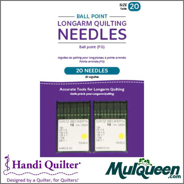 HQ Ball Point Longarm Needles – Two Packages of 10 (20/125-FB, Ball Point) - QM00270-2