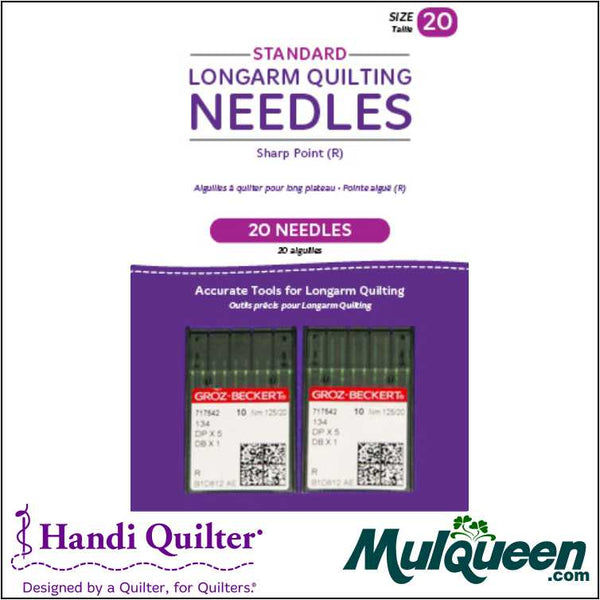 HQ Standard Longarm Needles - Two Packs of 10 (20/125-R. Sharp) - QM00272-2