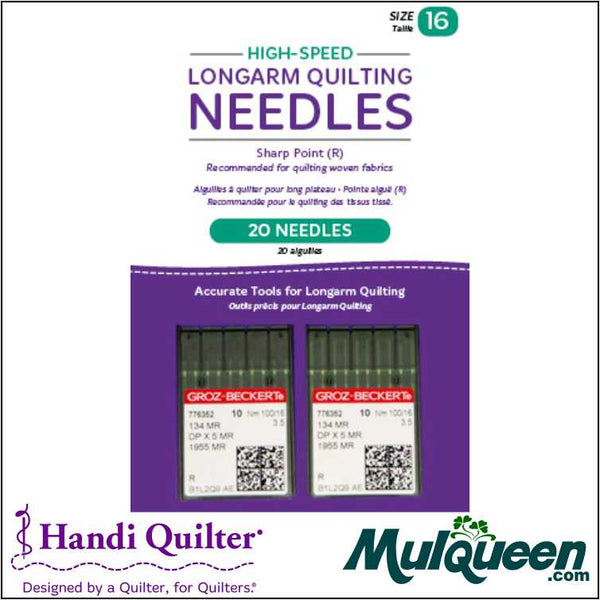 HQ High-Speed Longarm Needles – Two Packages of 10 (Crank 100/16 134MR-3.5) - QM13187-2