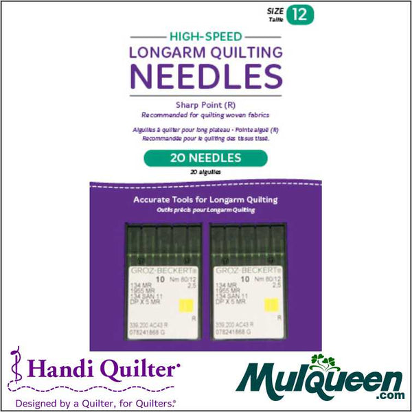 HQ High-Speed Longarm Needles – Two Packages of 10 (Crank 10/12 134MR-2.5) - QM13250-2