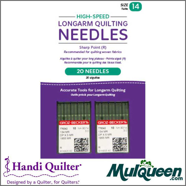 HQ High-Speed Longarm Needles – Two Packages of 10 (Crank 90/14 134MR-3.0) - QM13251-2