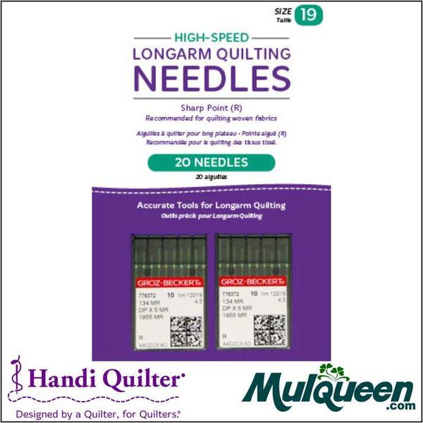 HQ High-Speed Longarm Needles – Two Packages of 10 (Crank 120/19 134MR-4.5) - QM13258-2