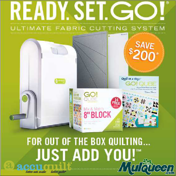 Accuquilt Ready Set Go! Ultimate Fabric Cutting Package