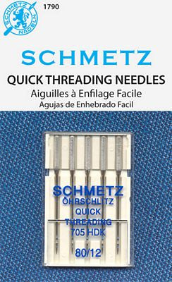 Schmetz Quick Threading 5 pack Size 80/12