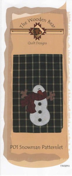 Snowman Patternlet Laser cut Applique/Towel Kit