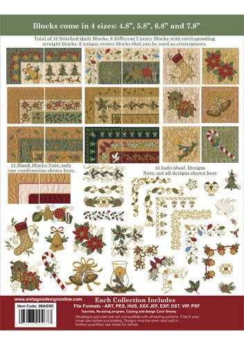 Anita Goodesign Special Edition Christmas Mulqueen Sewing