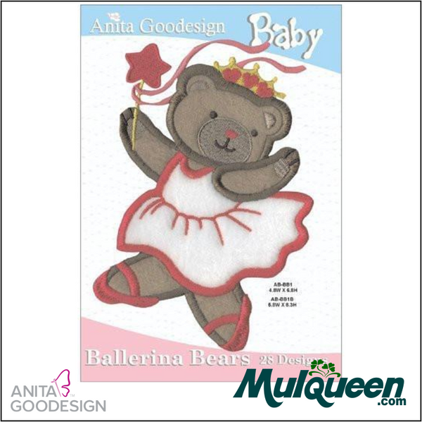 Anita Goodesign - Baby Collection - Ballerina Bears