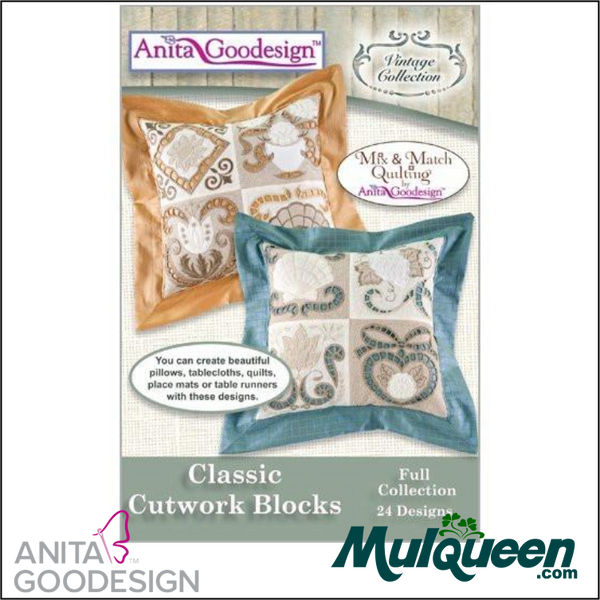 Anita Goodesign - Heirloom Collection - Classic Cutwork Blocks
