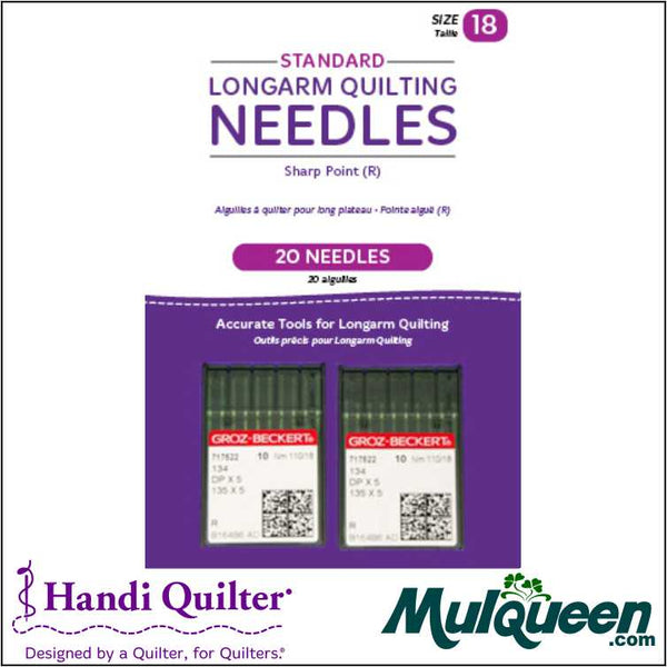 HQ Standard Longarm Needles - Two Packs of 10 (18/110-R. Sharp) - QM00267-2