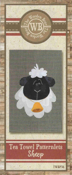 Sheep Patternlet Laser cut Applique/Towel Kit