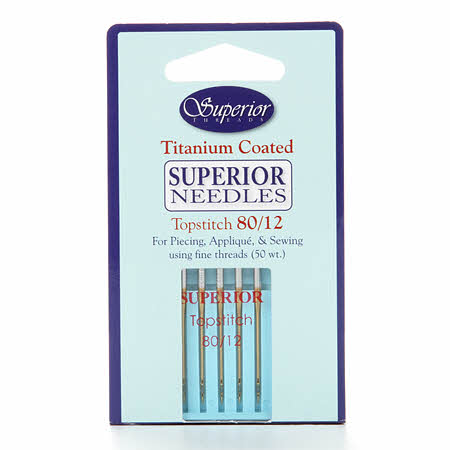 Superior Needles Topstitch Machine Needle Size 80/12