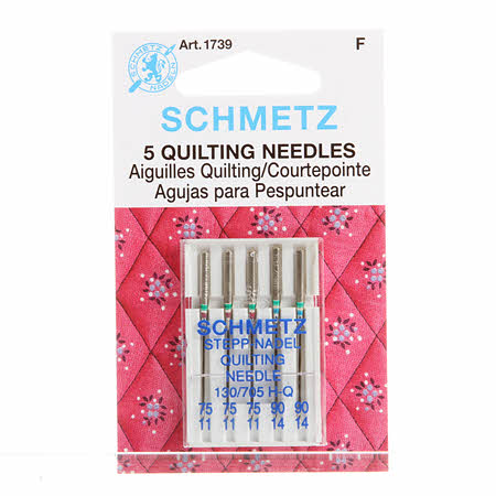 Schmetz Quilting Machine Needle Sizes 90/14 & 75/11