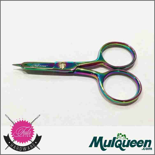 "Tula Pink Hardware 4"" Large Ring MicroTip Scissors"