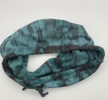 Pale Steel Blue Bark Fuzzy Neck Warmer