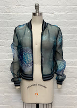 Silk Organza Bomber Jacket: Landscapes of the Moon