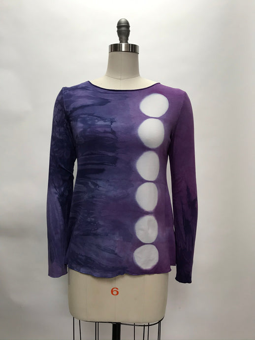 JESSIE TOP in Lilacs and Irises Eclipse