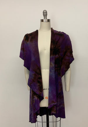 CHLOE VEST in Purple Martin Tangle