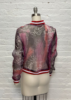 Silk Organza Bomber Jacket: Mapping the Interiors