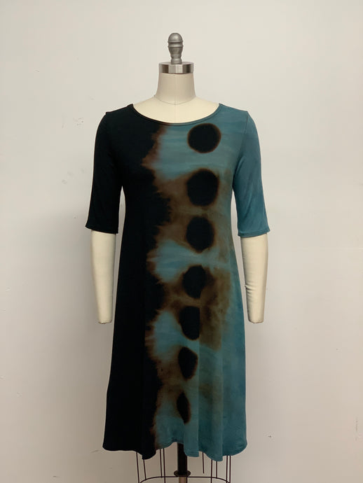 LUCILLE DRESS in Steel Blue Eclipse