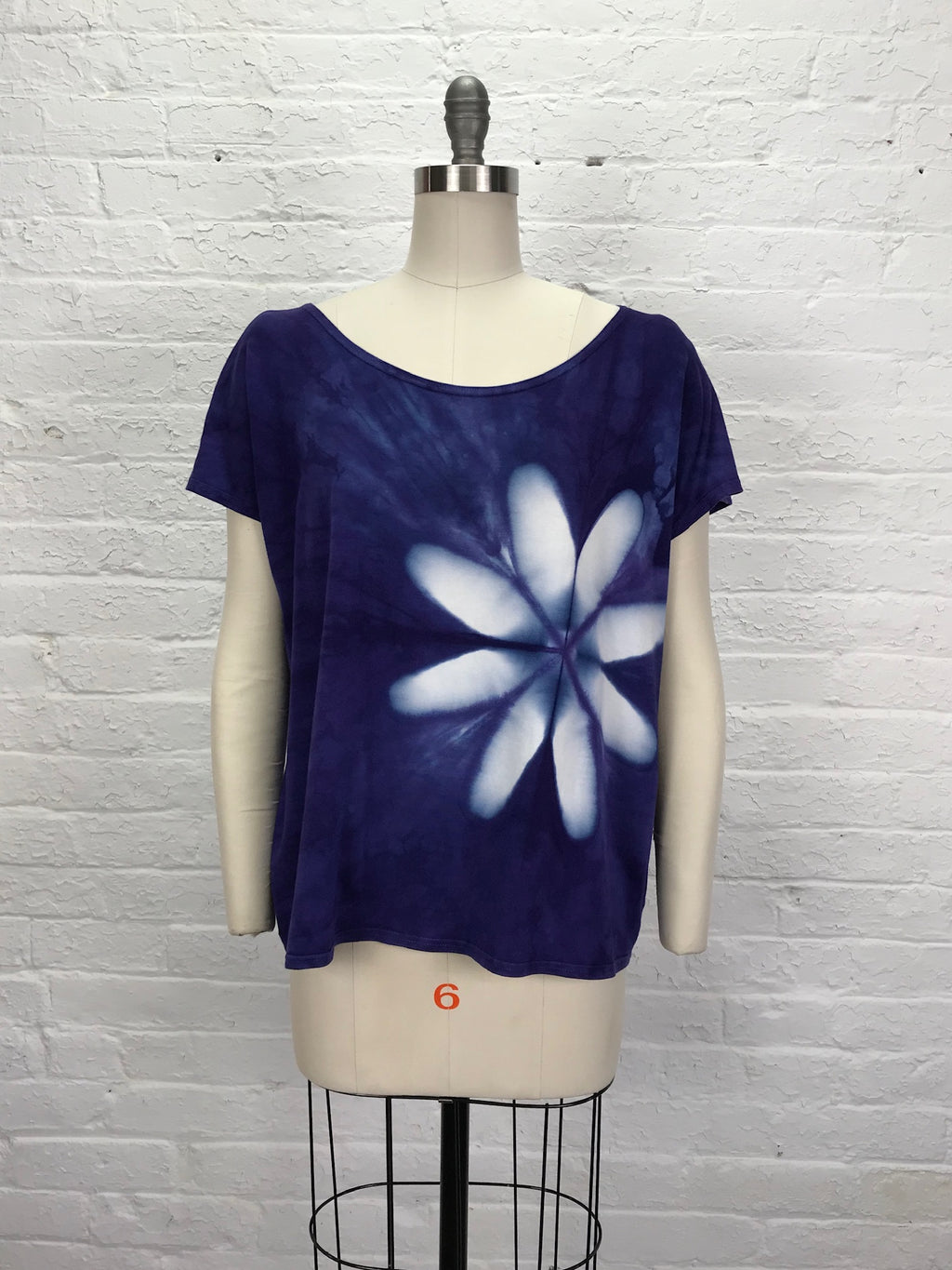 ELSIE TOP in Violet Flower Power