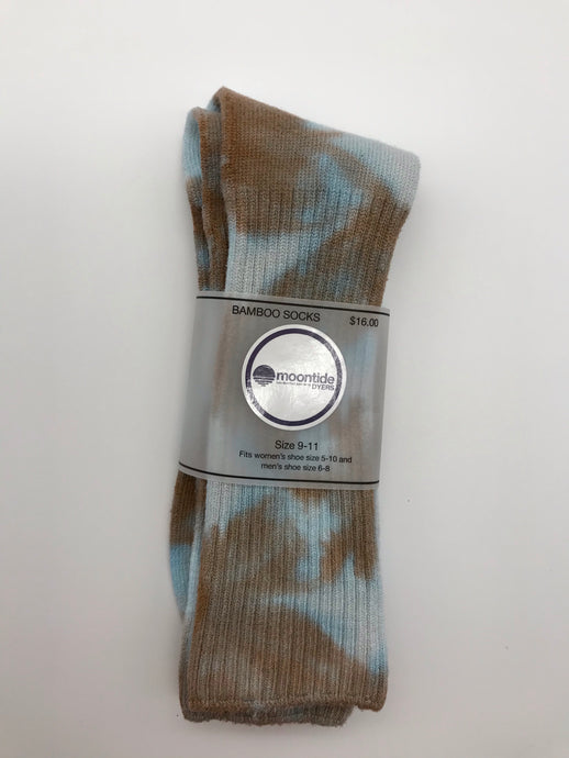 Bamboo Socks in Copper Leaf Crunch