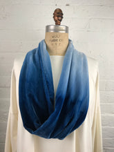 Velvet Cowl Necklace in Sky Dive