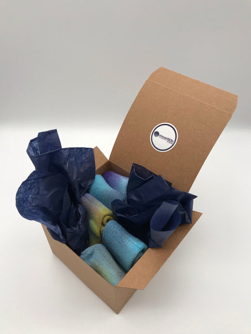 Gift Box Bamboo Socks in a Multi Pack of 5 Kids Size 4