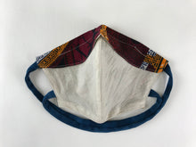 Face Masks for a Cause - Natural Muslin/ABC - Small Adult with Nose Wire, Filter and New Criss Cross Back Straps