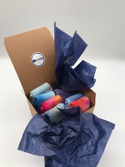 Gift Box Bamboo Socks in a Multi Pack of 7 Kids Size 5