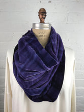 Velvet Double Cowl Warmer in Inky Violet