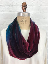 Velvet Cowl Warmer in Wine and Paint Night