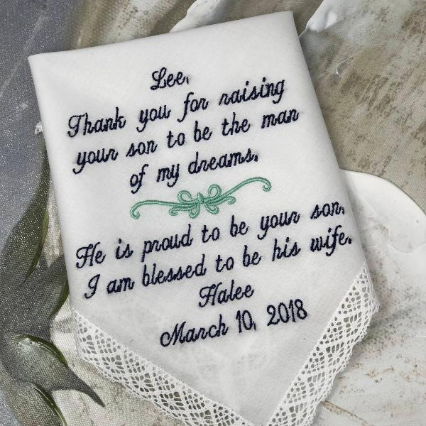 Mother of the Groom gift. Mother of the bride gift . Mother in Law Gift, mother in law wedding gift Wedding Handkerchief Hankies Hankerchief