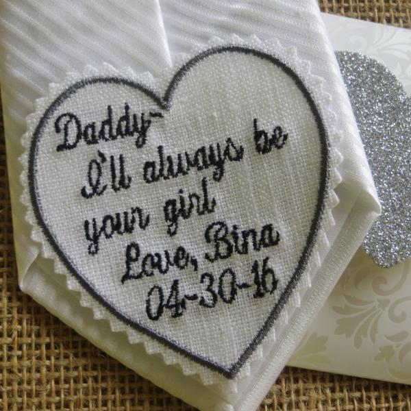 Pair it with a Wedding Handkerchief. Or Bride Groom Father of the Bride Linen Fabric Embroidered Wedding Gift Tie Patch Best Man