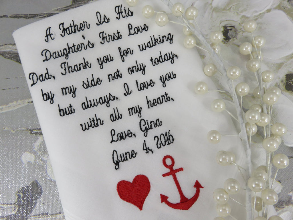 Wedding Favors Custom Wedding Handkerchief Embroidered Personalized Wedding Favors For Father Of The Bride Wedding Favors For Wedding Guest