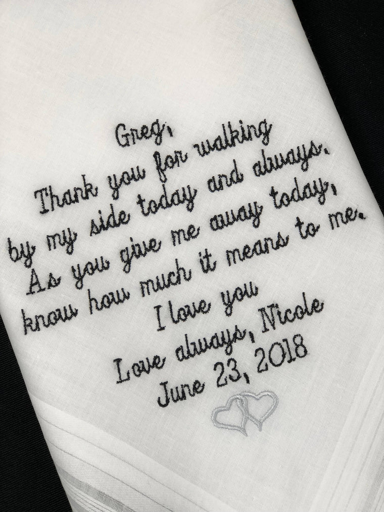 Father Of The Bride Handkerchief-Father of the Bride Gift Father Of The Groom gift wedding Handkerchief Wedding Planning Gift for Bride