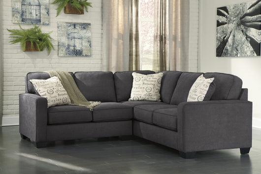 Alenya Charcoal 2 Piece Sectional