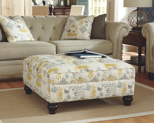 Hindell Park Coffee Table.Hindell Park Linen Oversized Accent Ottoman