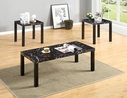 3327 3Pc Block Patten Marble Paper C/E Table Set