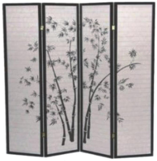 34254 4 Panel Bamboo Design Screen