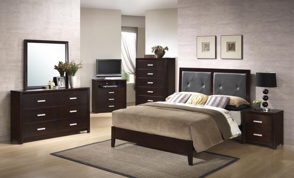 B120 Cappuccino Bedroom Set