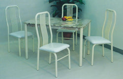 3134A Almond Marble 5PC Dining Set