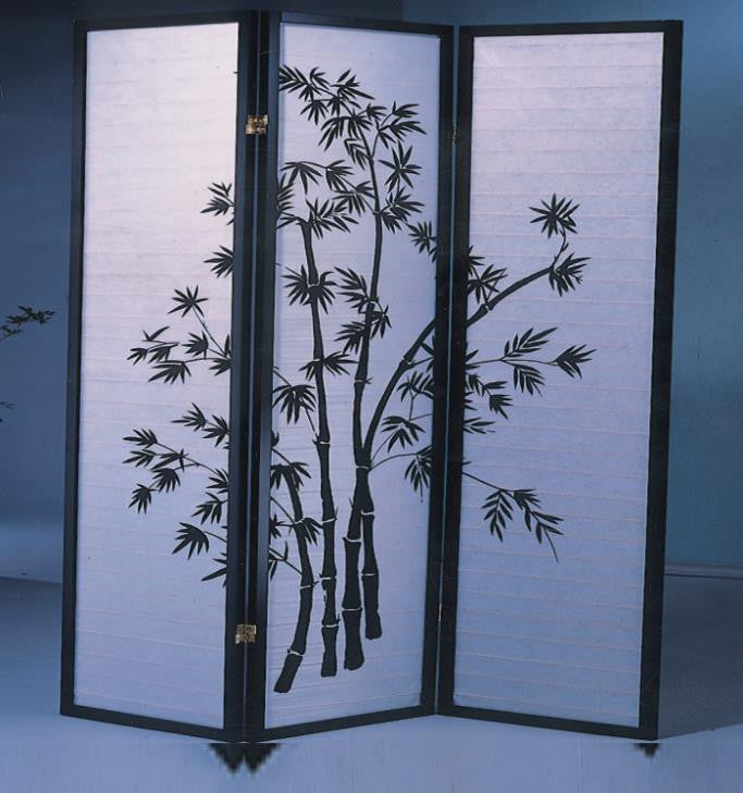 3425 3 Panel Room Divider Bamboo