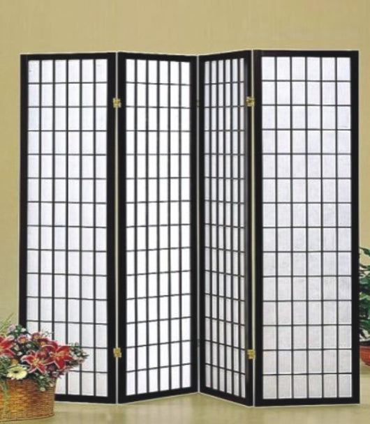 K Panel Room Divider Black Roomstyle Furniture Mattress - 4 panel room divider
