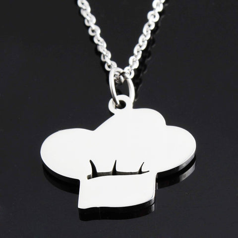 Gorgeous Silver Plated Chef Hat Necklace