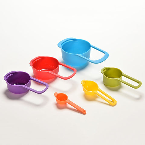 6x Colorful Measuring Spoons